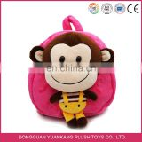 cute naughty monkey kids plush backpack animal