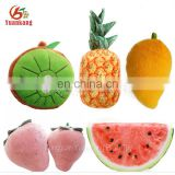 Custom plush fruit toys mango/kiwi/pineapple/strawberry/watermelon stuffed soft toy