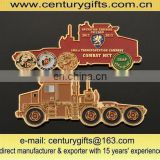 Cut out military coins with car shape, gold plating soft enamel coins for customer designs