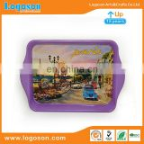 Professional Manufacturer Logoson Custom Cheap Metal Tray Country Souvenir Custom Tray