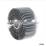 High Standard aluminum profile circle shape small fin extruded industrial flood lighting heat sink