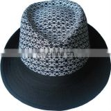 Fashion Fedora trilby hat. Men fedora hat, Cotton / polyester fedora hat