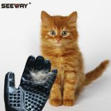Seeway Pet Shedding Grooming Gloves Hair Remover for Cats Dogs Horses