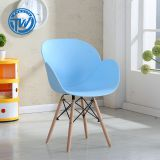 DC-6059 Topwell High Quality Plastic Chair Dining Chair Leisure Chair With Wooden Legs
