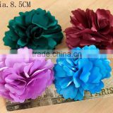 Fabric Flower Hair Slide Hairclip Brooch Pin