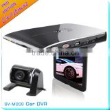 Dual Lens front rear view car camera HD with G-sensor