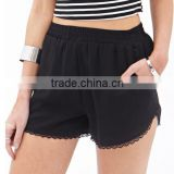 High quality loose lady Lace-Trim Shorts