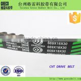 Rubber motorcycle drive belt