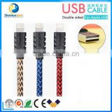 High quality Nylon USB cable Durable braided usb cable for mobile phone