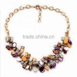 colorful 2015 Hot Sale Women Bohemia Style Enamel brand Flowers Choker Chains Statement Necklace Ethnic Vintage Jewelry