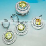 Fashion Sterling Silver Jewelry Set, 925 Sterling Silver Jewelry Wholesale Artificial Crystal Jewellery,PT90128.