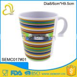 The latest hot style print plastic melamine mug with handle                                                                         Quality Choice