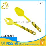 cheap melamine kitchen ware spoon and fork plastic cutlery