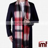 Men's Cashmere Winter Plaid Scarf,Winter Scarf Soft Elegant Long Fashion Wrap Scarves