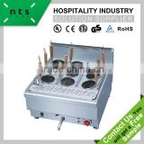fast food hotel restaurant counter top design 9 basket electric noodle cooker
