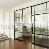 Hotsale Home Kitchen Partition Wall Modern Office Sliding Glass Door Divider(SZ-WS635)