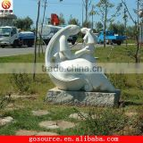 abstract white stone sculpture