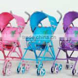 Adjustable handle baby doll stroller 3 big wheels carriage baby stroller baby tricycle