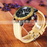 Wholesale Custom Fashion Gold Wrist Watches Band Waterproof Alloy Case Western Wrist Watches