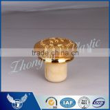 Gold color plastic cap synthetic cork SGS FDA certificates for whisky rum vokda brand bottles