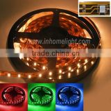 Hot sale led flexible strip light 3528 led tape decorative led lighting RGB and single color