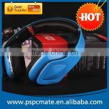 Colorful wireless sport wireless blutooth headphone for tv with FM radio and TF card player