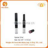 Best seller!!WMC-Y4053 double sides design ABS+Acrylic empty tubes for lipstick and lip gloss