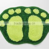 foot shape bath tufted mat/carpet