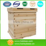 Beekeeping equipment fir wooden two levels bee hive