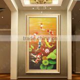 Wood frame high quality rural landscape reproduction oil painting                                                                         Quality Choice