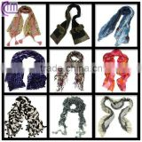 various pattern comfortable polyester fashion scarf
