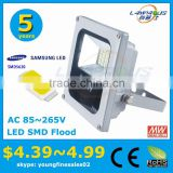 best price meanwell driver 5 years warranty IP66 warm white 3000k outdoor 10w driverless led floodlight