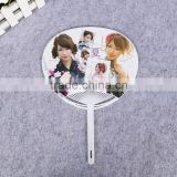 PP plastic big advertising hand fan with customized Logo for promotion gift