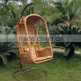 Top outdoor wicker hanging chair with stand