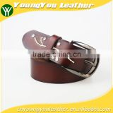 Fashion High Quality Real Leather belt jeans for women with Alloy Buckles in Yiwu