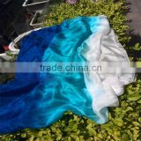 2016 Hot selling women cheap belly dance veil silk 100% real chinese silk scarf for sale