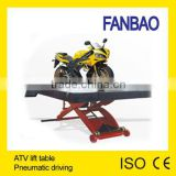 pneumatic motorcycle scissor lift table