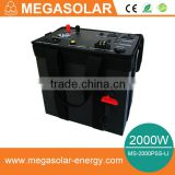 2kw home backup power generator system with AC/DC output charged by solar panel