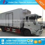 Dongfeng brand 4x2 refrigerated cold room van truck 10ton capacity RHD refrigerated truck in Africa