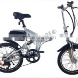 Top E-Cycle Steel Frame Mini Folding Cheap Electric Bike Mid Motor Drive Light Ebike