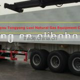 E8 CNG tube trailer for gas transporting, compatible with filling posts and valves abroad, 8700m3 storage
