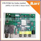MPEG4 SD cable STB PCBA board, DVB-C PCBA main board for India market                                                                         Quality Choice