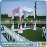 Backdrop aluminum antique christmas decoration event brass plated hanging items pipe and drape system