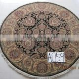 dinning room use round circular blanket handmade round wool persian rug carpet round hand knotted persian wool carpet