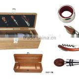 bar set with bamboo wine gift box