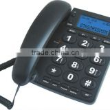 Big button telephone, caller ID phone, senior phone for old people, with flash indictor.
