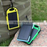 portable universal waterproof solar power bank for laptop inverter battery power computer consumer electronic with dual-usb