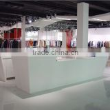artificial marble Solid Surface Salon Reception Desk,composite marble stone countertop