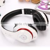 Wireless Bluetooth Headset, bluetooth 4.0 over the ear headphone with microphone (White)