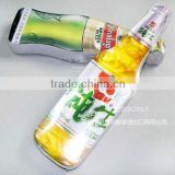 Compressed cotton T-shirt with beer bottle shape